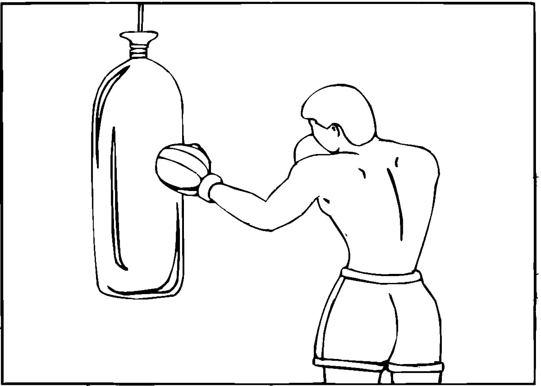 боксёр с мешком