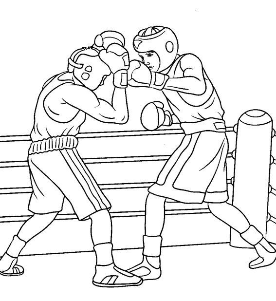 Раскраска бокс 12