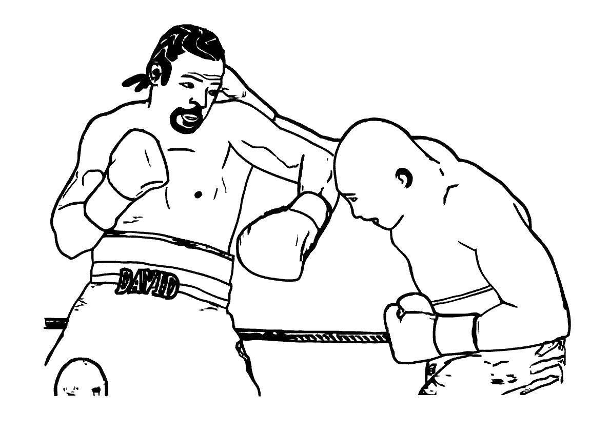 раскраска бокс 35