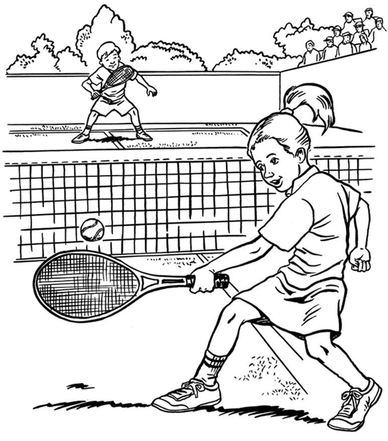 дети играют в теннис фото