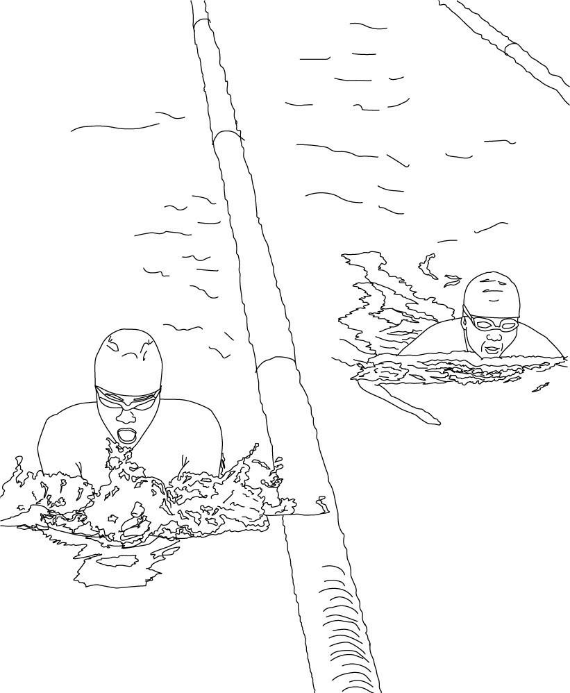 Плавание в бассейне брассом
