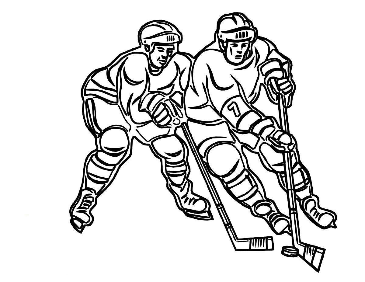 раскраска хоккей 12