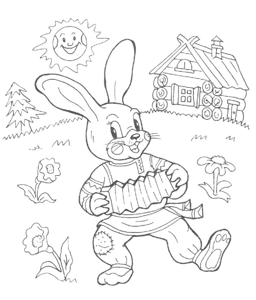 Раскраска заяц | andrey-eltsov.ru
