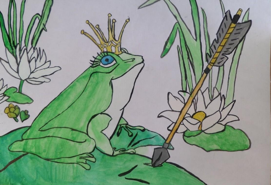 царевна лягушка в цвете