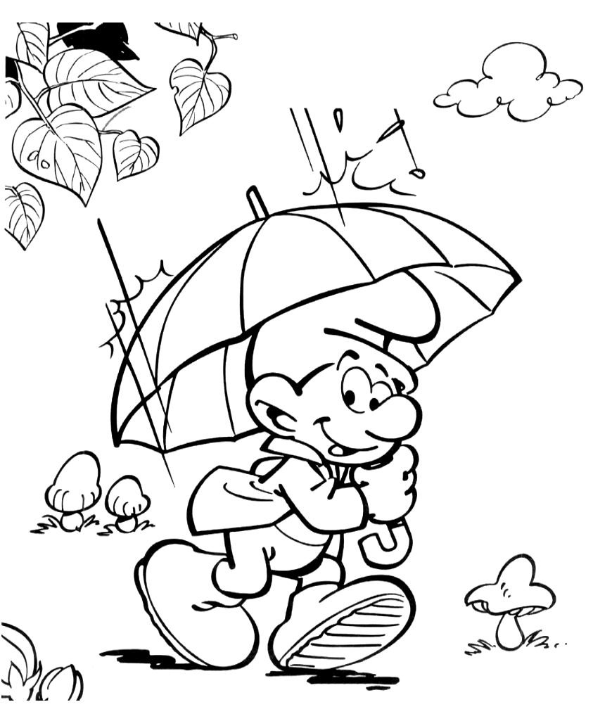 Гномик под зонтиком