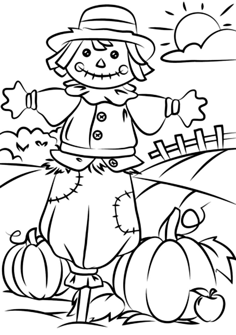 Раскраска осень 36
