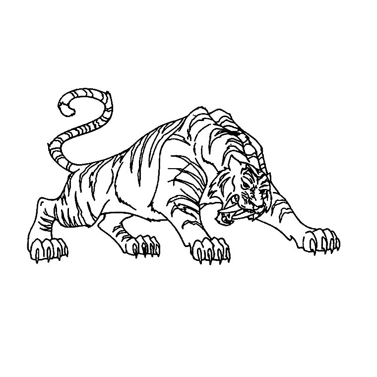 раскраска тигр 24