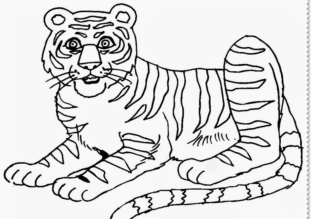 Удивлённый тигр