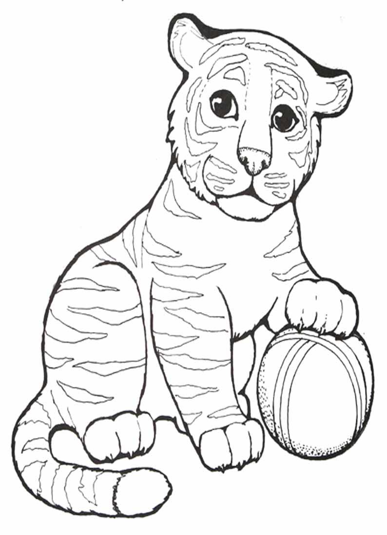 тигрёнок с мячиком