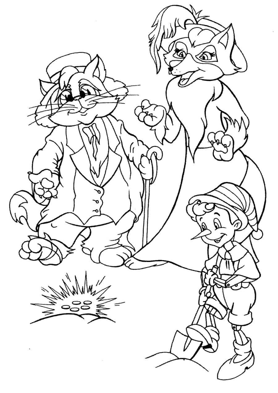 кот Базилио и лиса Алиса