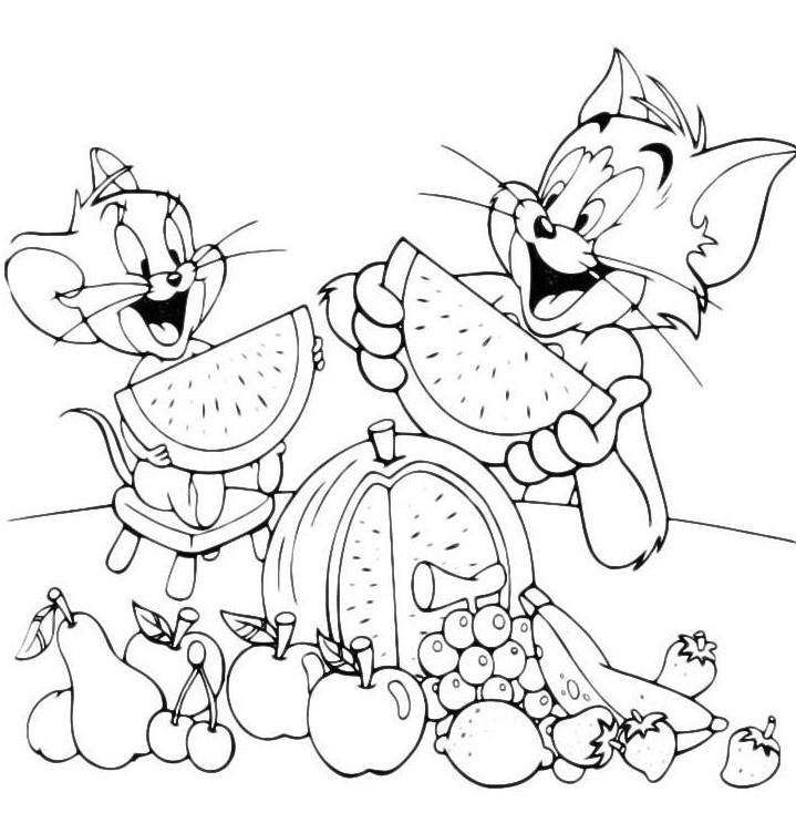 Раскраска Том и Джерри 41