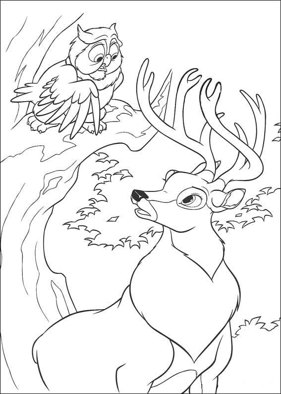Удивлённый олень