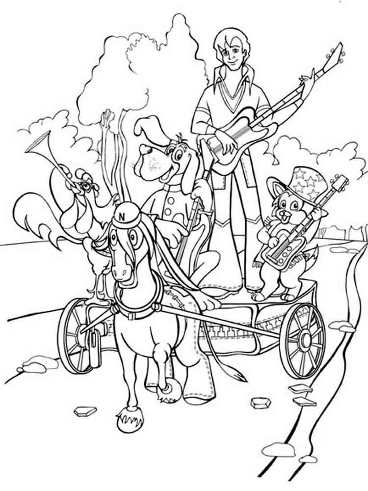 Раскраска бременские музыканты 4