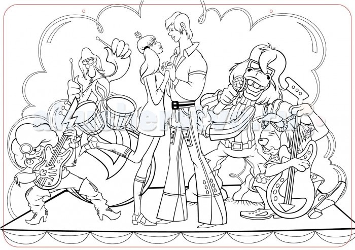 раскраска бременские музыканты