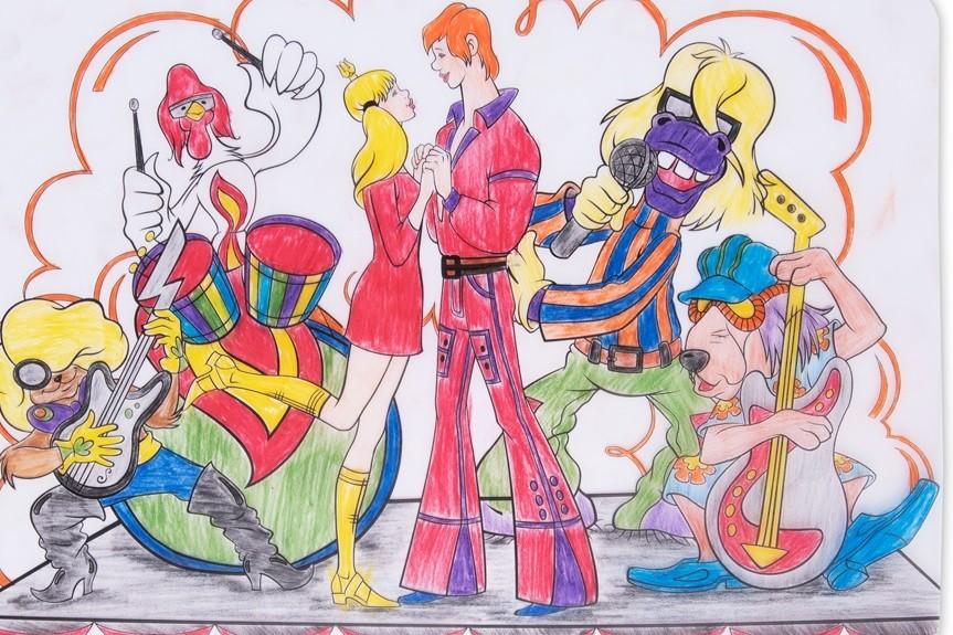 раскраска бременские музыканты 2