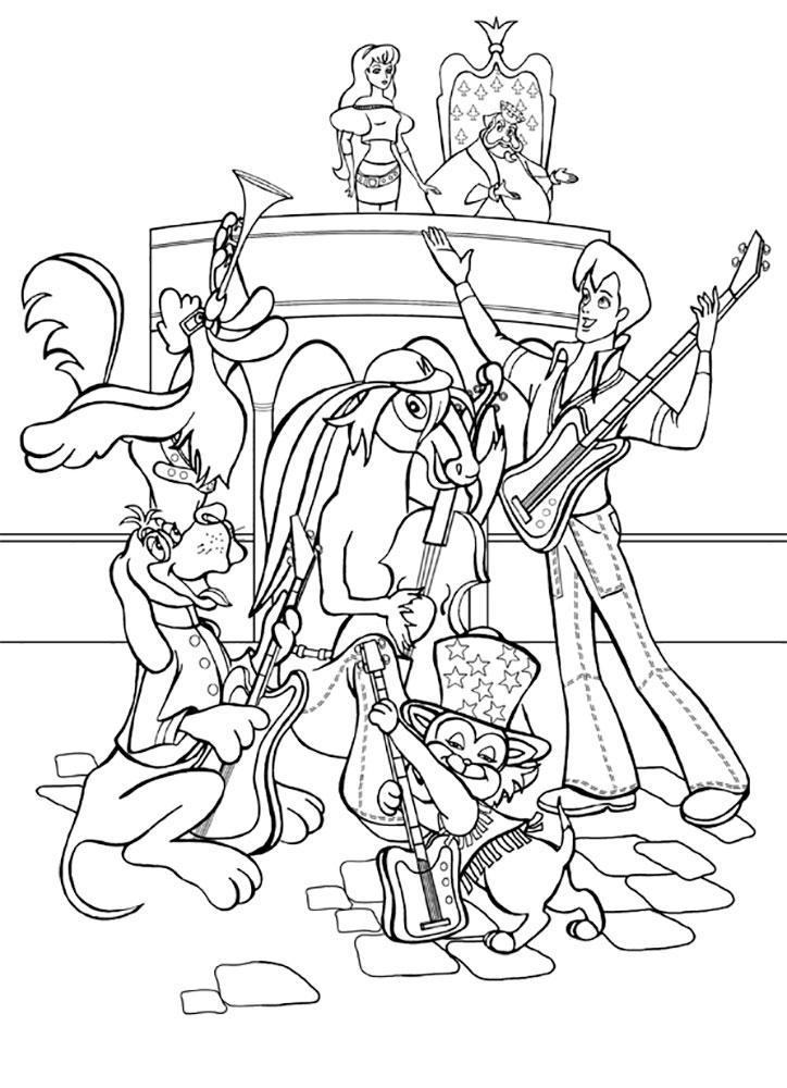 Раскраска бременские музыканты 17