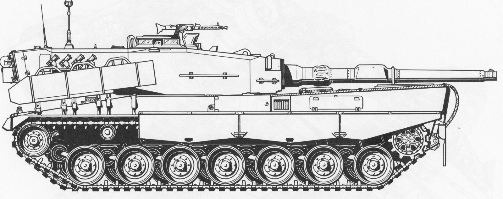 раскраска танк леопард