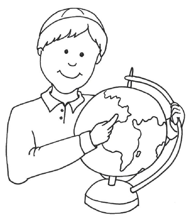 школьник с глобусом