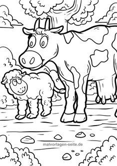 Раскраска корова 39