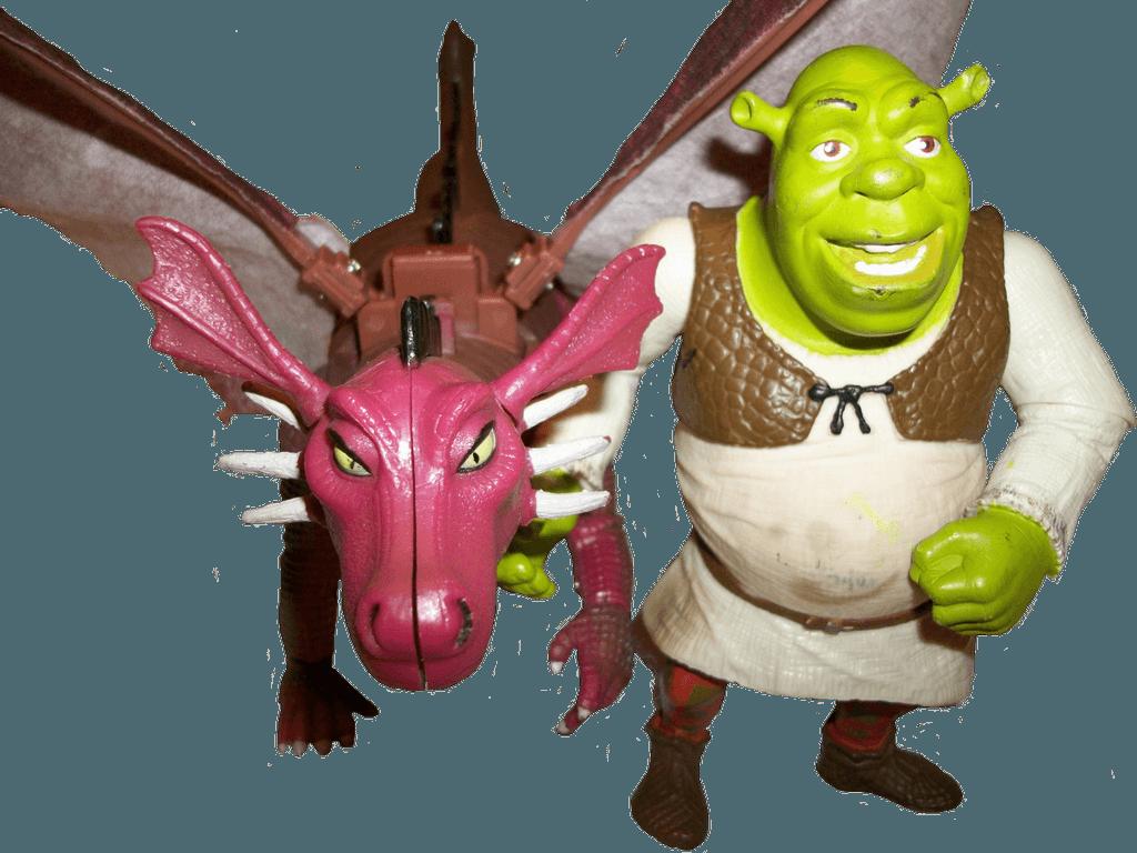 Игрушки Шрек и дракон
