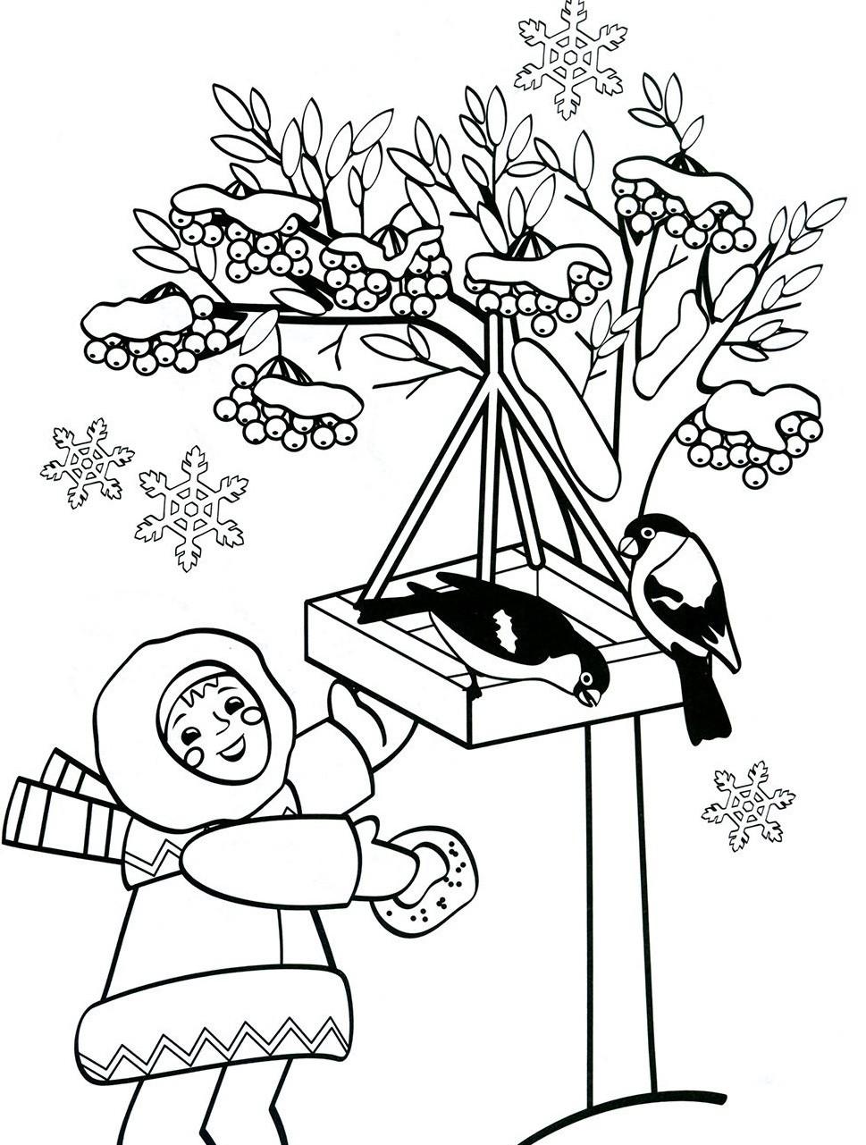 девочка и снегири