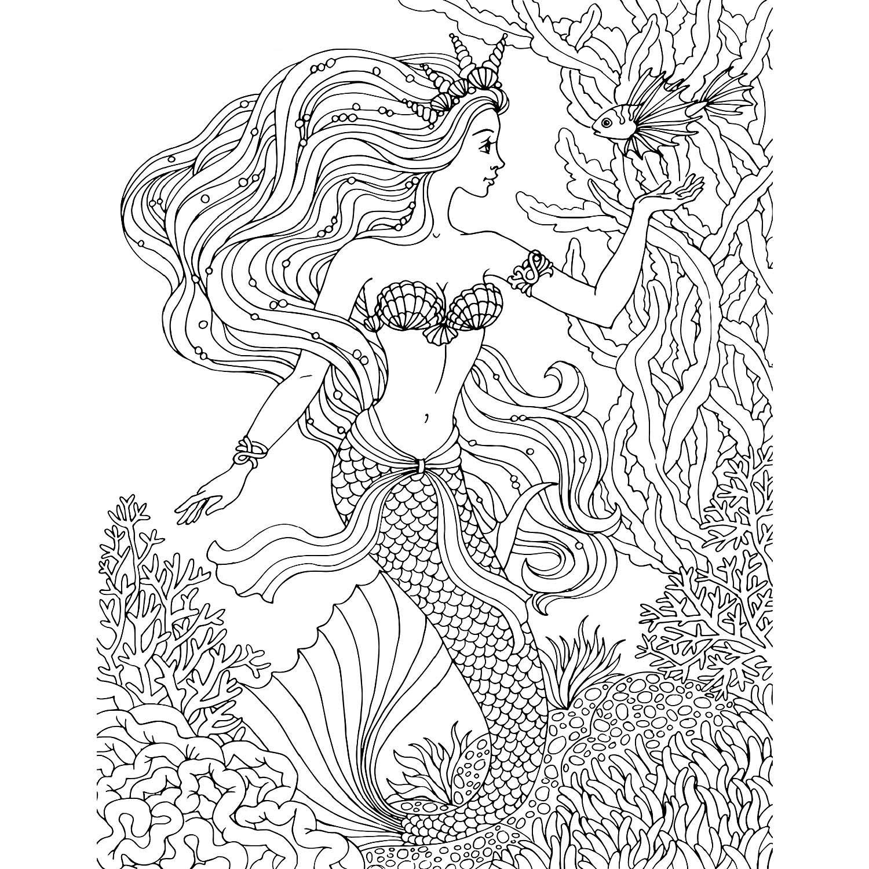 Раскраска русалка | andrey-eltsov.ru