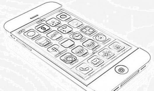 раскраска телефон айфон