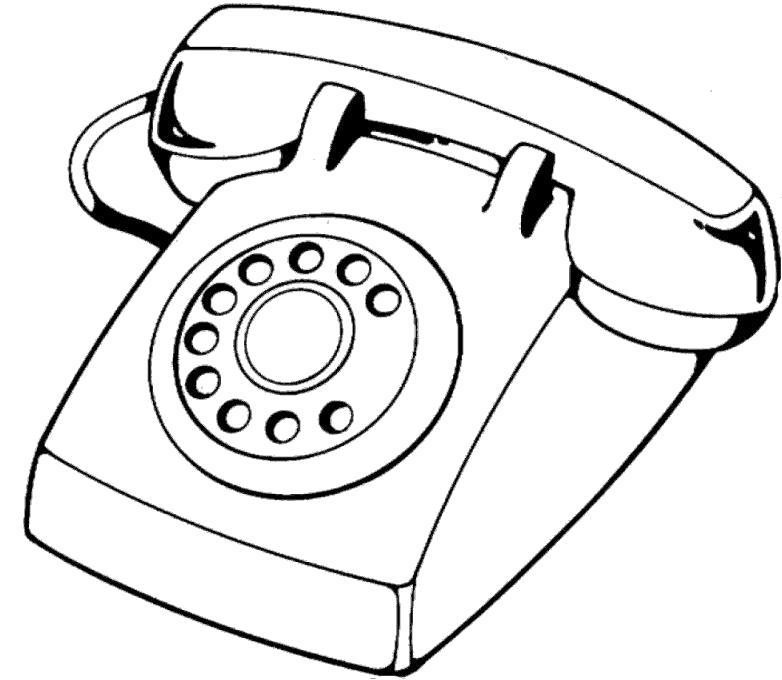 Раскраска телефон 7