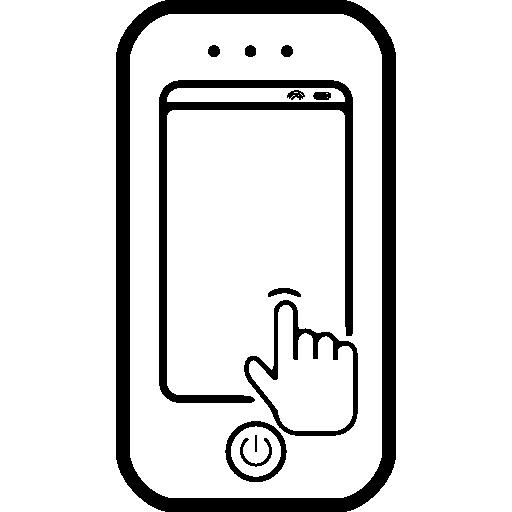 Раскраска телефон сенсорный