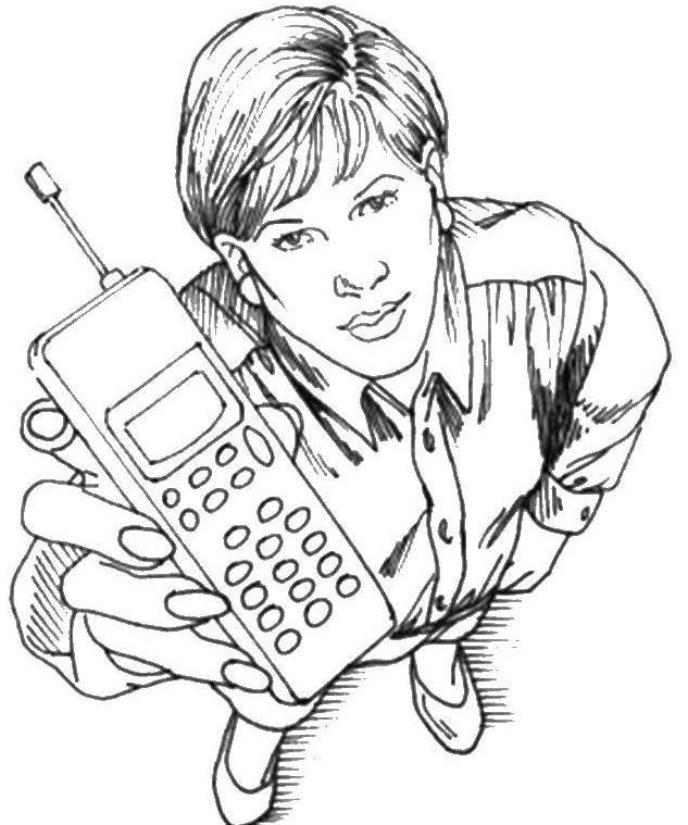 раскраска телефон 3