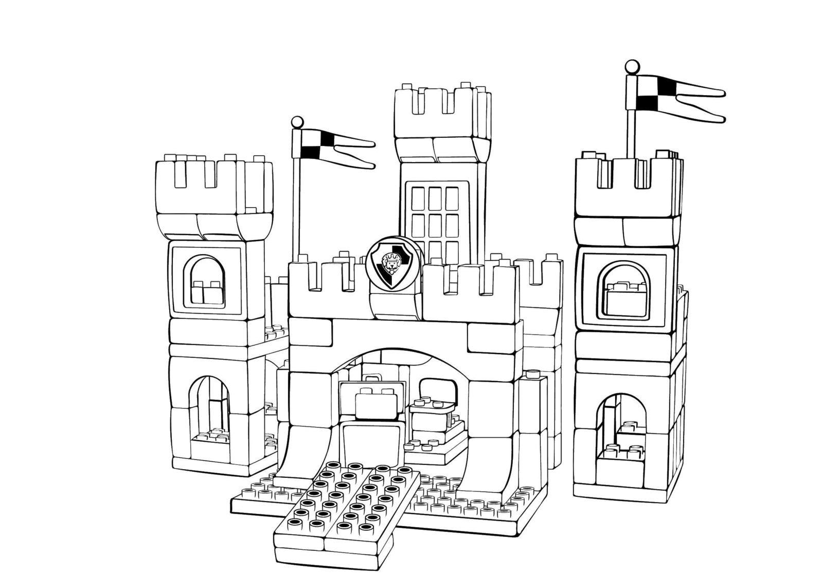 замок из конструктора