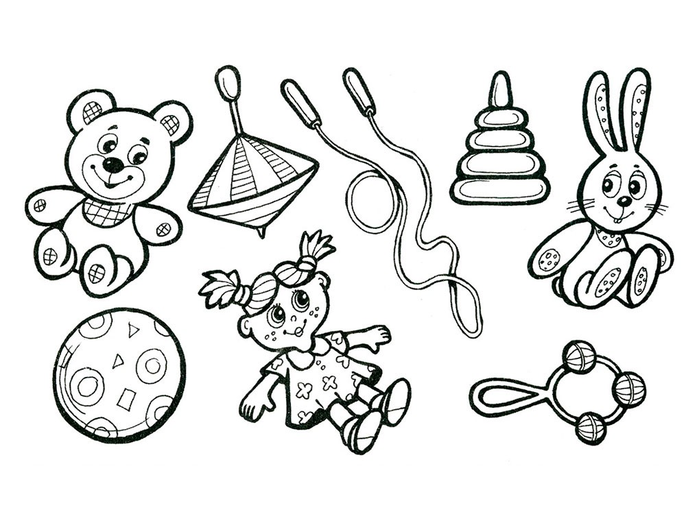 раскраска игрушки 5