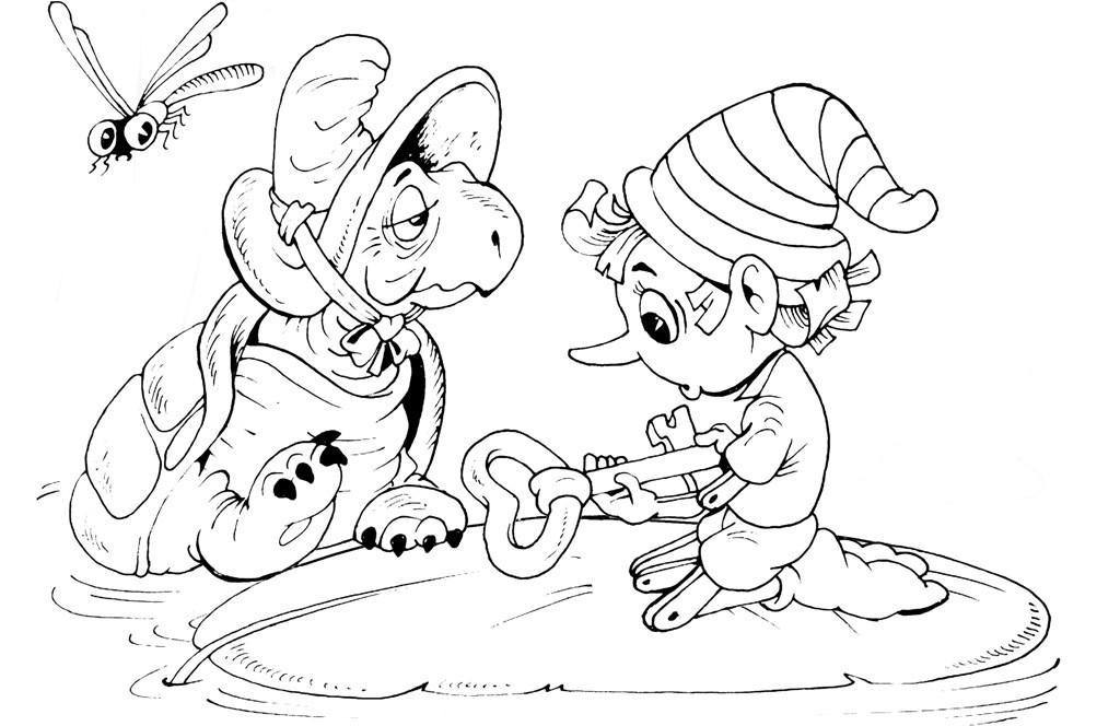 Раскраска черепаха Тортилла
