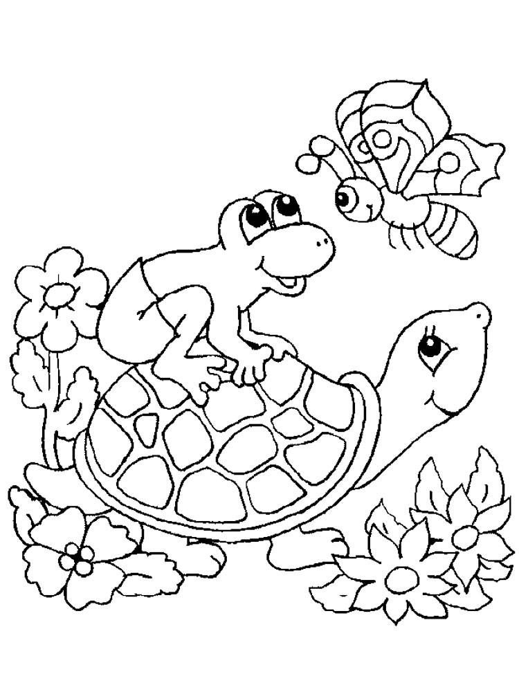 Черепаха с лягушкой