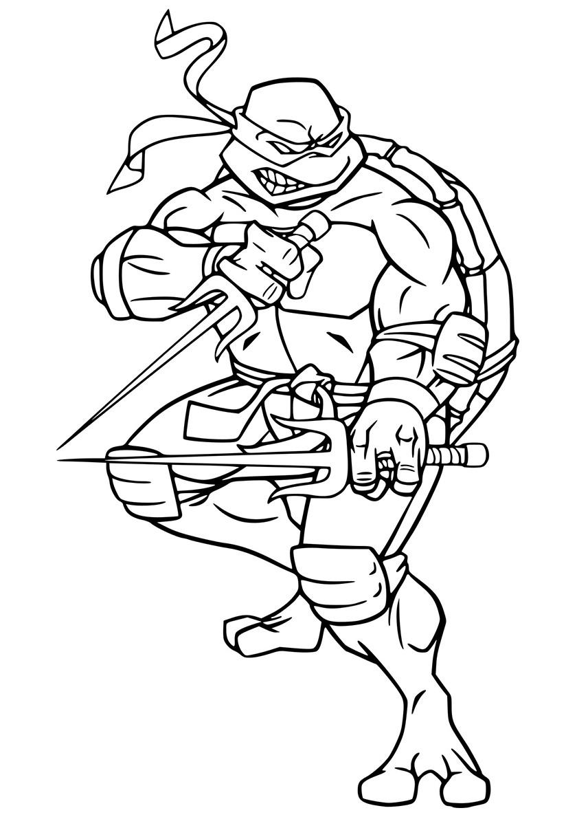 Раскраска черепашка ниндзя 88