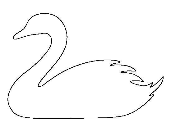 контур лебедя
