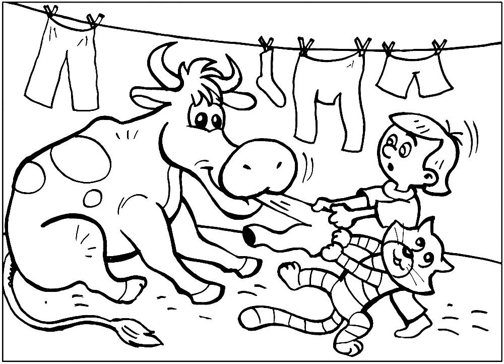 Мультяшная корова Мурка