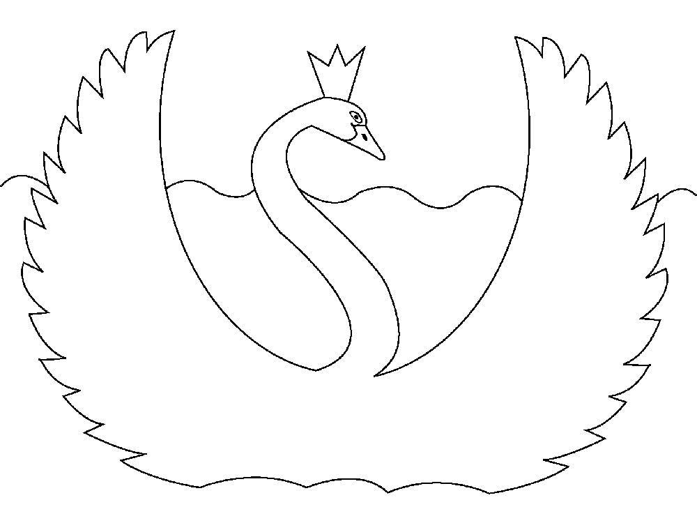 шаблон лебедя 7