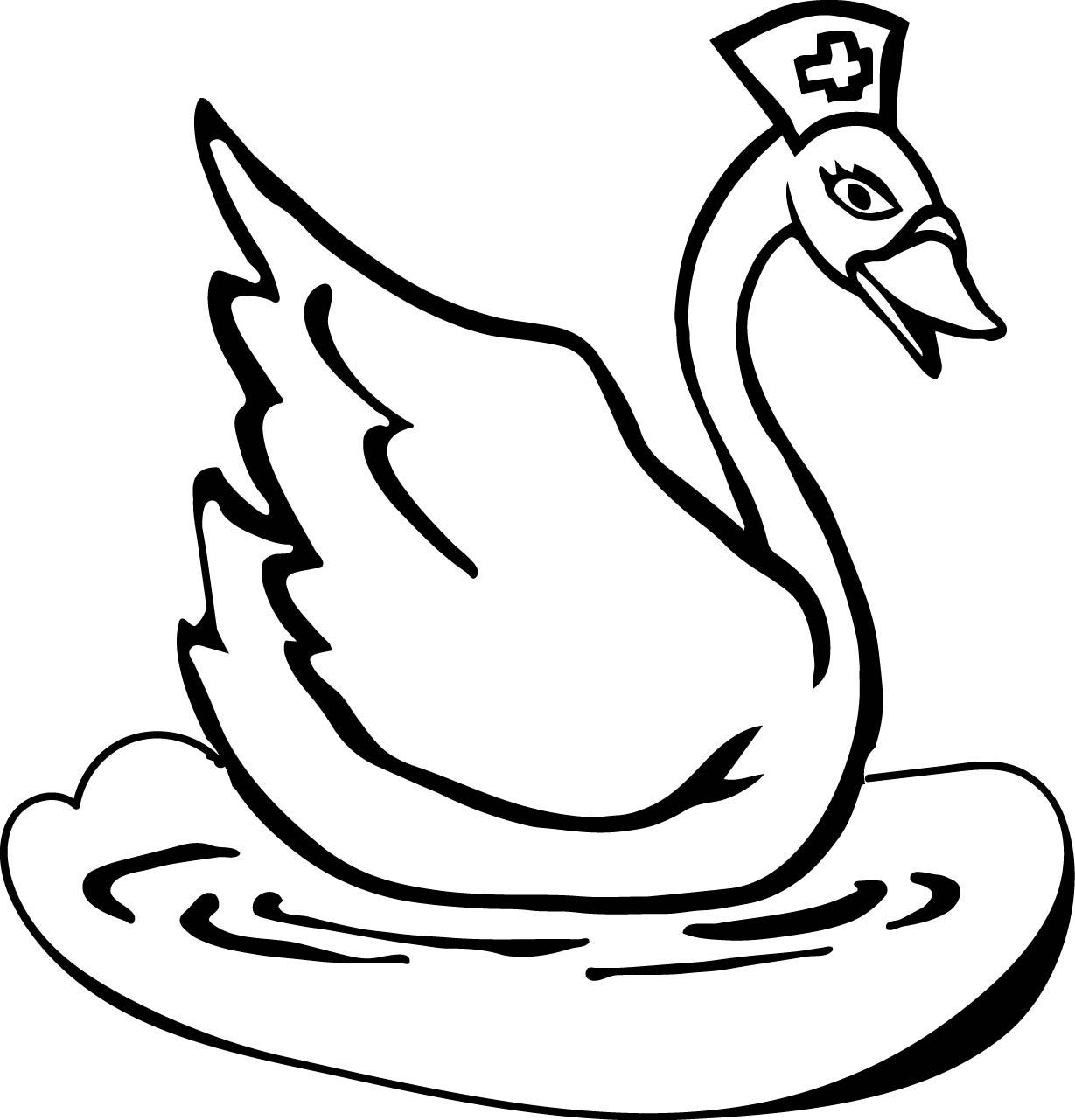 шаблон лебедя 69