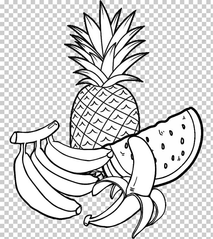раскраска ананас 9