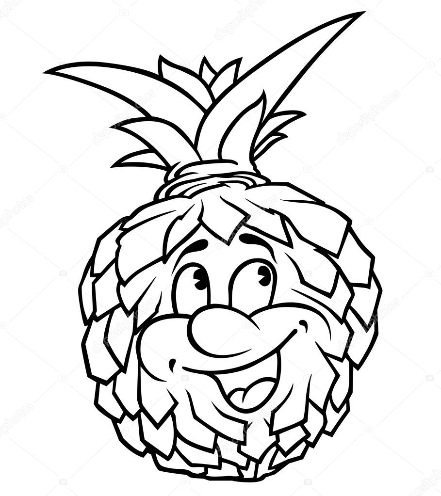 Мультяшный ананас