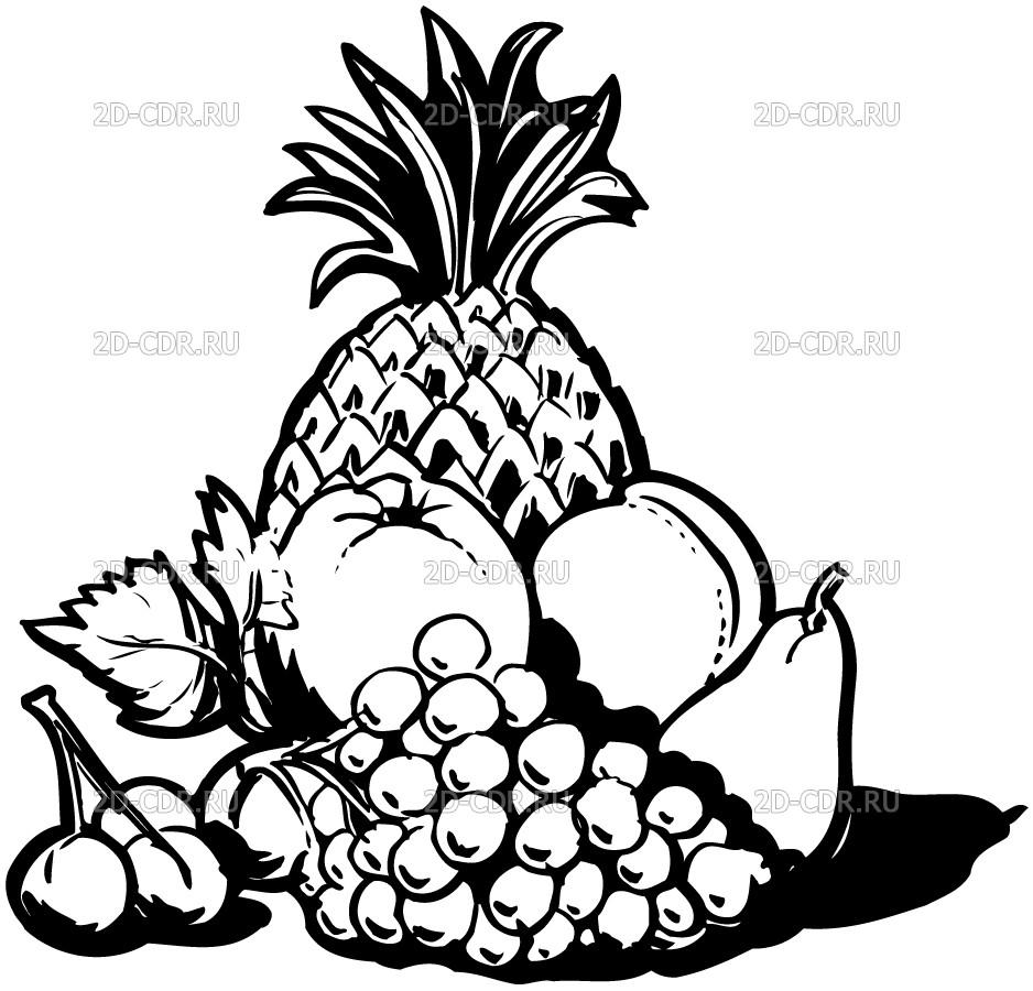 Ананас с другими фруктами