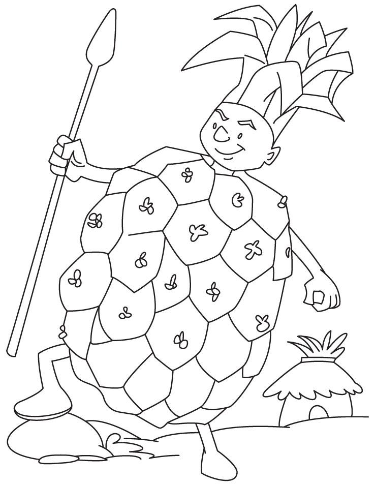 Раскраска ананас 19