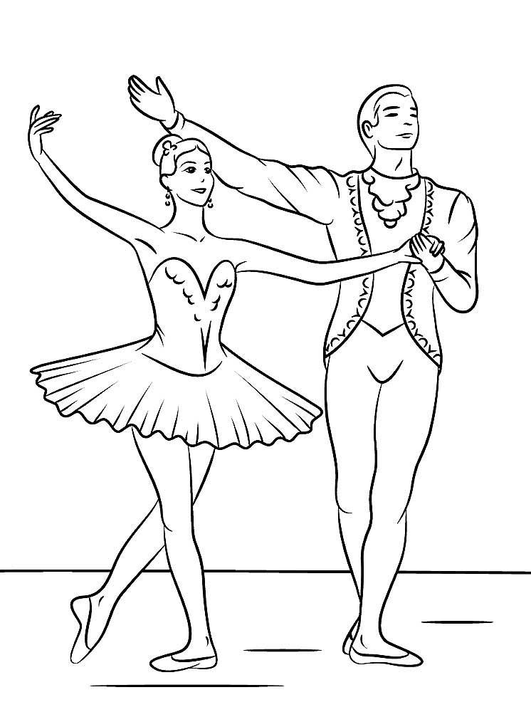 Раскраска балерина 21