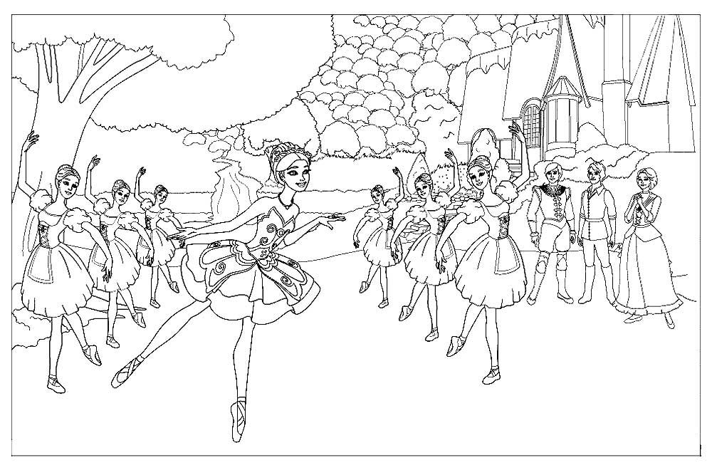 Балерины на репетиции