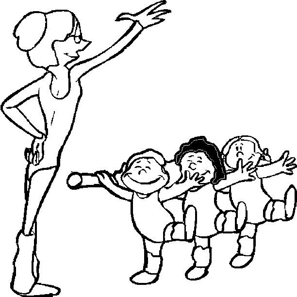 дети учатся балету