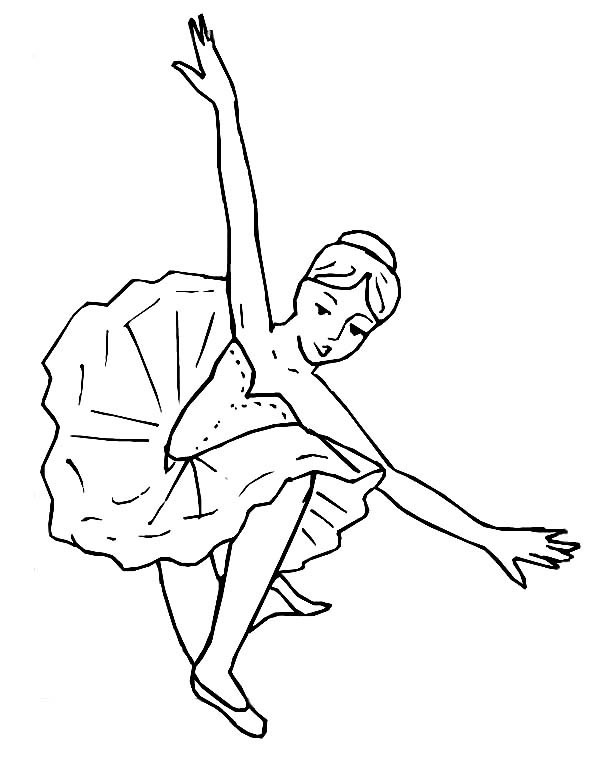 Балерина присела