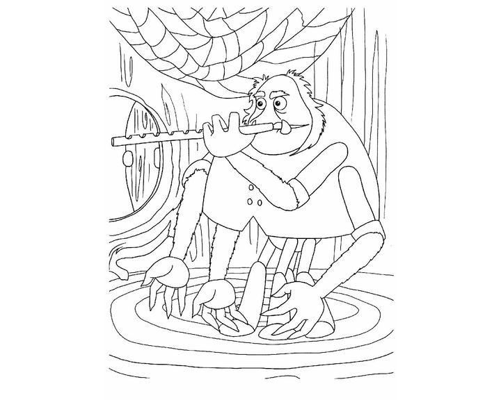 Шнюк играет на флейте