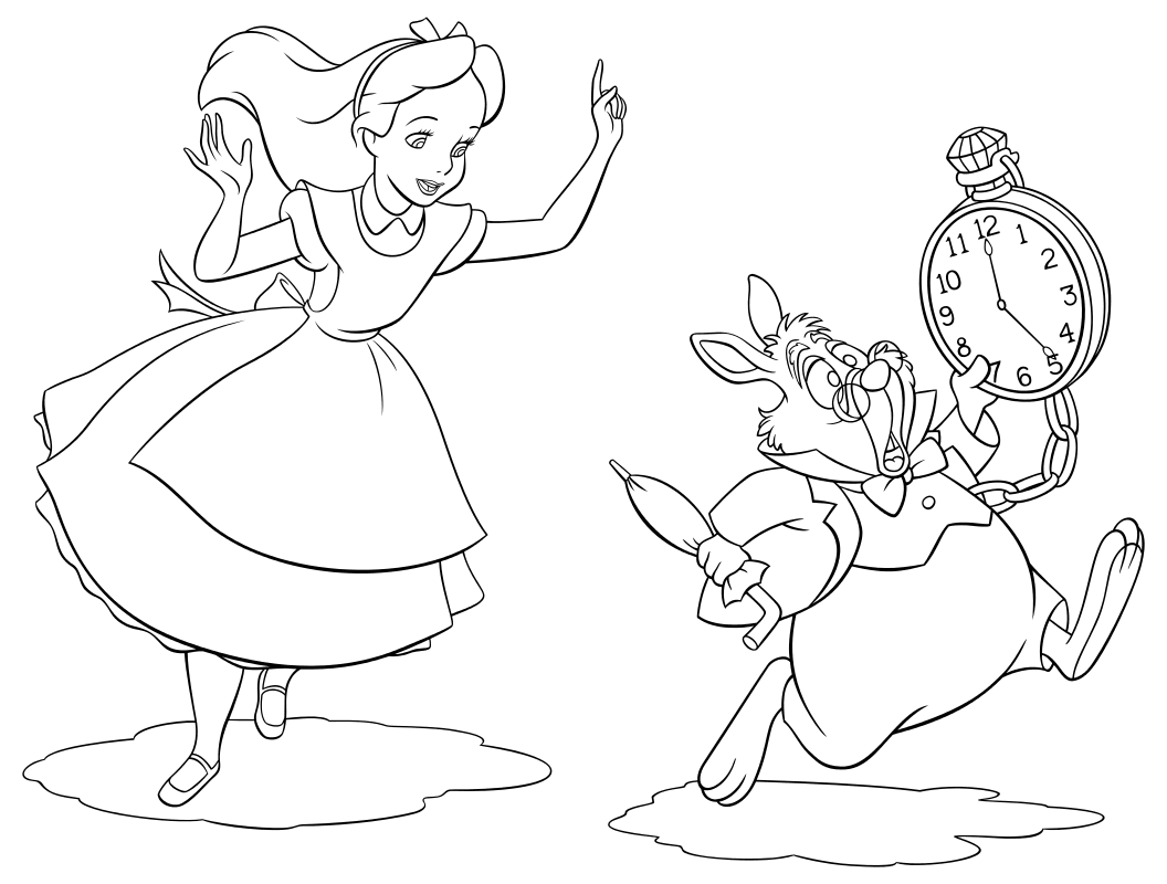 Алиса бежит за Белым кроликом
