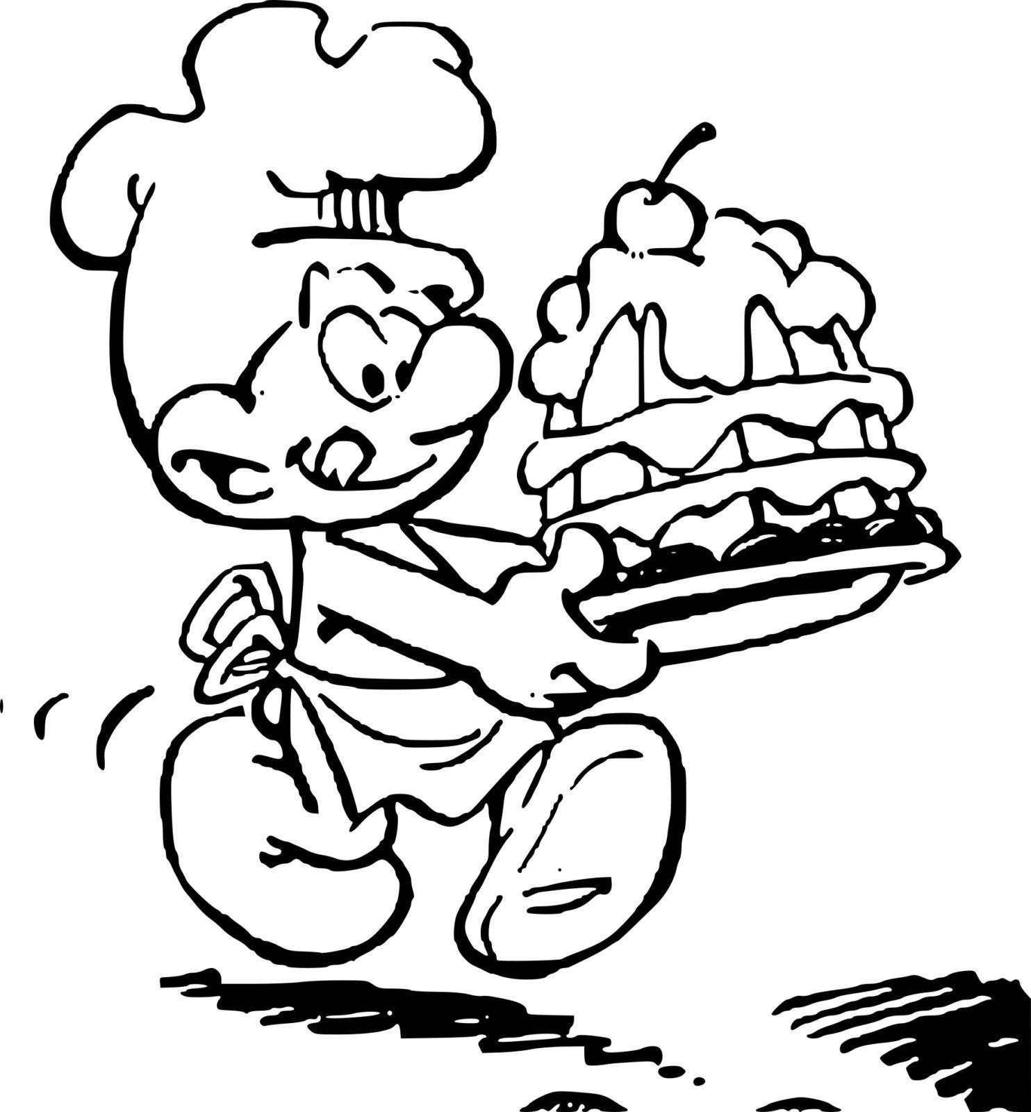 гном торт тащит